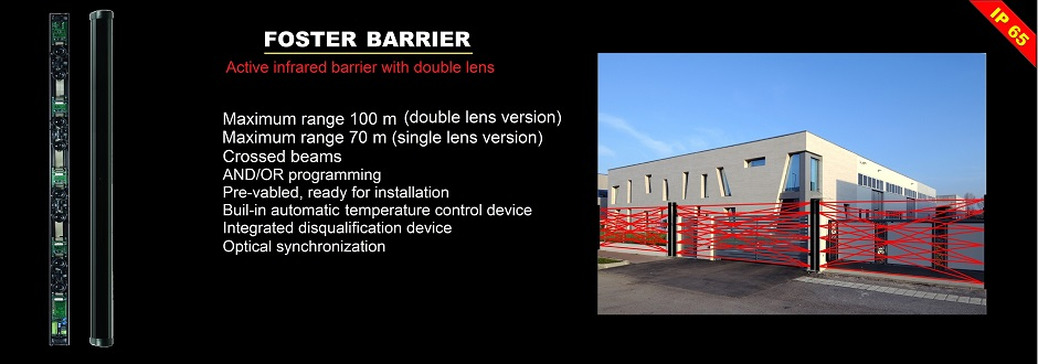 Foster perimeter infrared barrier