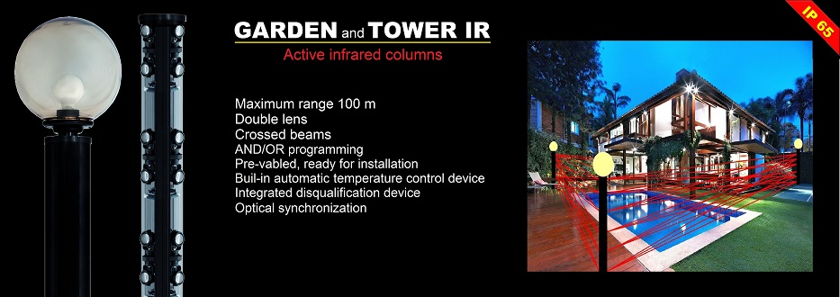 Garden Tower outdoor infrared beam detector