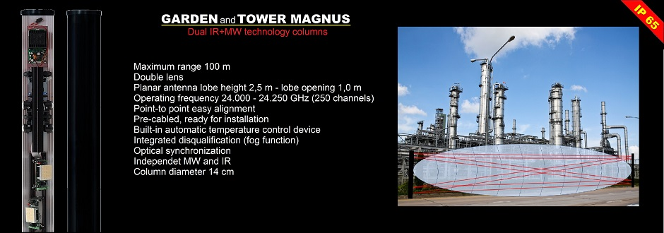 GARDEN and TOWER MAGNUS infrared microwave security barrier