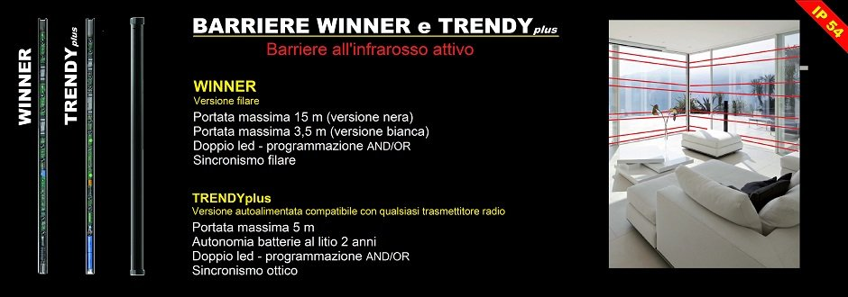 Winner e Trendy barriere infrarossi per finestre